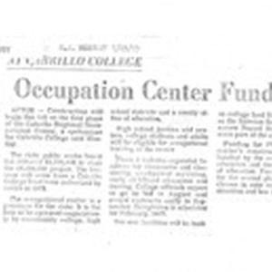 Occupation Center Funded