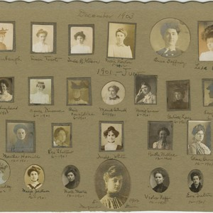 Portraits of the First Students at San Francisco State Normal School