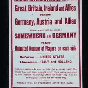 Grand International Match. Great Britain, Ireland and Allies versus Germany, Austria and ...