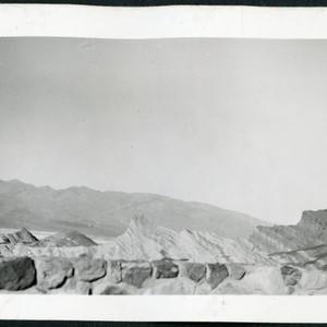 Photograph of Zabriske Point area in Death Valley with rock wall in ...