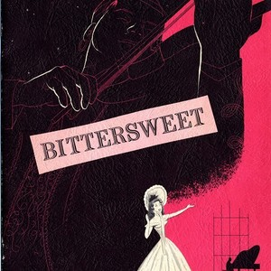 "Cover and selected pages from the souvenir program of musical ""Bittersweet"""