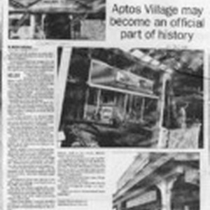 Protecting the past Aptos Village may become an official part of history
