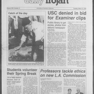 Daily Trojan, Vol. 114, No. 41, March 12, 1991