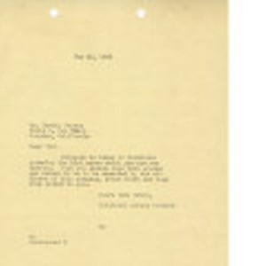 Letter from Dominguez Estate Company to Mr. Toshio Sugano, May 26, 1939