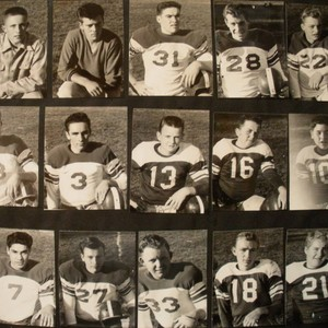 Analy High School Tigers Football, 1953--fifteen individual photos of unidentified football players--probably ...