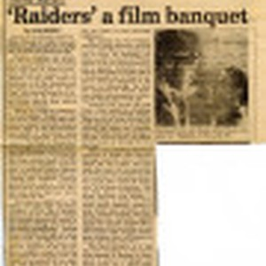 "Media clipping about ""Raiders of the Lost Ark"" (1981)"