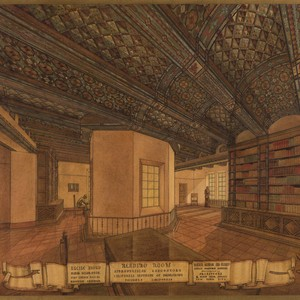 Lucile Lloyd: Study for stenciled ceiling, Henry M. Robinson Astrophysics Library (Pasadena, ...