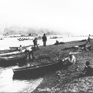 Requa: Mouth of the Klamath River and Dad's Camp, ca. '30. An ...