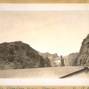 The Boulder Dam, Nevada, June 3/36. It has three hundred feet of ...