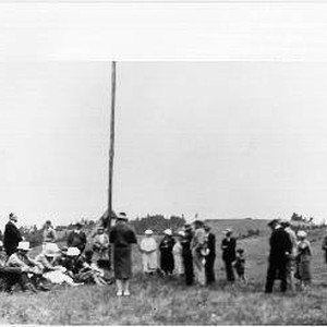 Native Sons of the Golden West dedicating a flag pole at Bodega ...