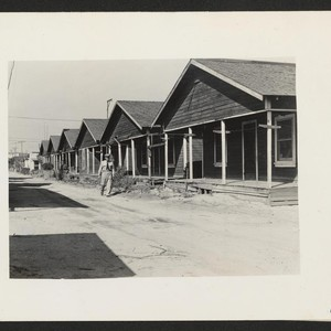 San Pedro, Calif.--View of homes from which residents of Japanese ancestry were ...