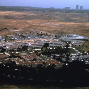 Aerial views of campus