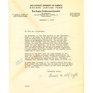 Letter from Gerald M. O'Keeffe to Isidore B. Dockweiler, December 1, 1939