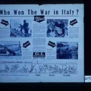 Who won the war in Italy? They all did! ... Ground forces ...