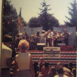 Bandstand at Ives Park in Sebastopol with an audience in front and ...