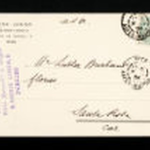 Postcard to Luther Burbank from Bloch Junior, Les Jardins de Nice, France, ...