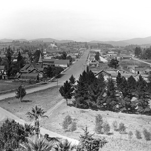 Birds-eye view of Escondido, California: Photograph