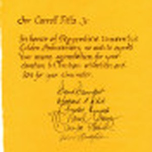Note of commendation for Carroll Pitts, Jr. from Pepperdine administrators