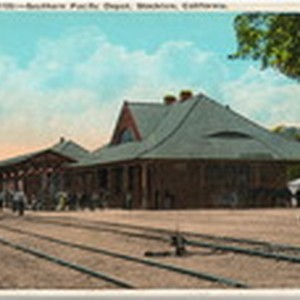 [Southern Pacific Railroad passenger station at Stockton]