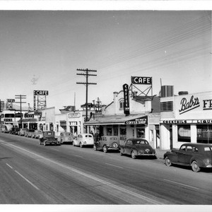 The Business District of Mojave California on State Hihway 6 thru the ...