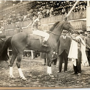 [Entrant in horse race at the Panama-Pacific International Exposition]