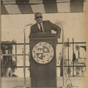 Daily Sundial front page--college President, Dr. James Cleary, October 3, 1969