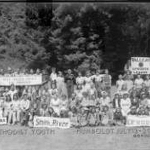 Group portrait of the attendees of the July 1940 Methodist Youth California ...