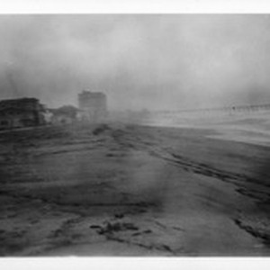Looking south from 20th Street, Hermosa Beach (heavy rain), Los Angeles County, ...