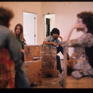 Students in art class, ca. 1970