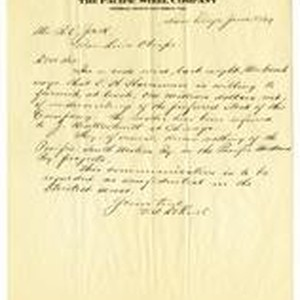 Letter from V. A. Dehnel to R. E. Jack
