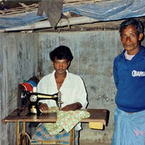 Danish Bangladesh Leprosy Mission/DBLM. Rehabilitated former patient, Nilphamari, 21st November
