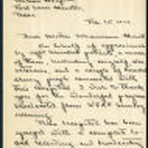 Aage Larsen letter to Schumann-Heink, 1926 February 1