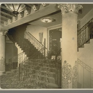 [Interior staris of an unidentified building, likely to be an art deco ...