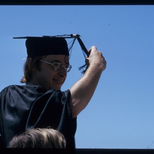 Student at graduation, ca. 1975