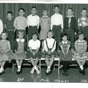 Class Photo, 2nd Grade, Mrs. Mower, Lincoln Park School