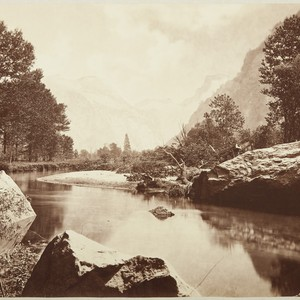 [Half Dome, from the Valley Floor, Merced River in the foreground], no. ...