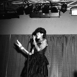 Black Gold Trade Show Pageant participant performing, Los Angeles, 1983