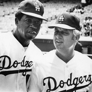 Jim Gilliam with Tommy Lasorda