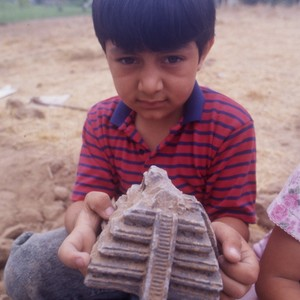Elementary age school students working at an archeological dig, through a summer ...