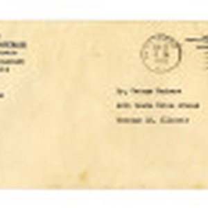 Envelope from War Relocation Authority, United States Department of the Interior, to ...