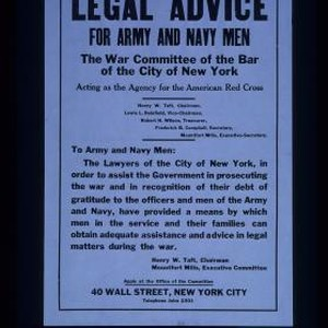 Legal advice for Army and Navy men ... The lawyers of the ...