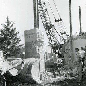 1962 Hall of justice demolition