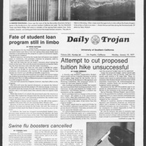 Daily Trojan, Vol. 70, No. 60, January 10, 1977