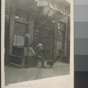 [Same?] China alley. Fresno, Cal. 1910. [People in front of building in ...