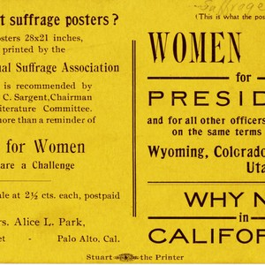 Postcard: women vote for president