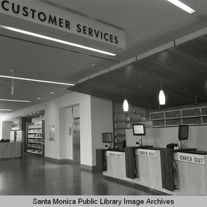 Customer Service desk on the first floor of the new Main Library ...
