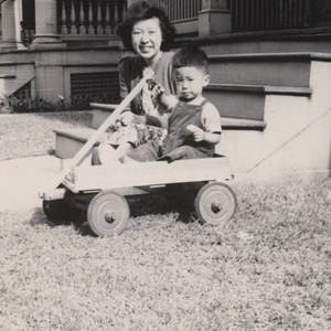 Japanese American woman and child