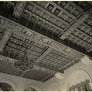 [Interior ceiling detail Merchant's National Bank building, 7th and Spring Street, Los ...