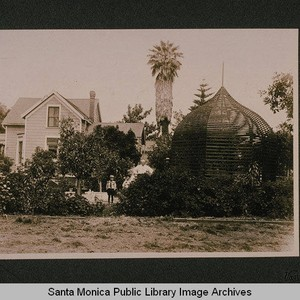 Unidentified house and gazebo, Santa Monica, Calif