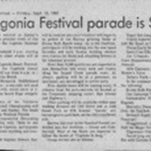 Big Begonia Festival Parade Is Sunday